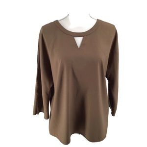 Chico's Easywear Brown Pullover Blouse Size 2